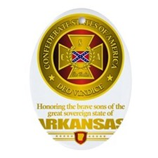 Arkansas SCH Oval Ornament