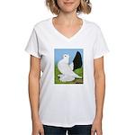 Russian Pigeon Women's V-Neck T-Shirt