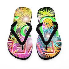 lv up Flip Flops