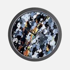 Polarised LM of thin section of gneiss Wall Clock