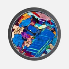 Polarised LM of a thin section of gabbr Wall Clock