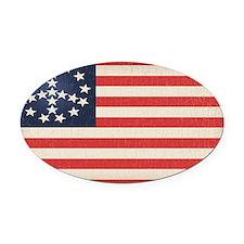 Peace Flag 2 -stkr Oval Car Magnet