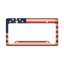 Peace Flag 2 -stkr License Plate Holder