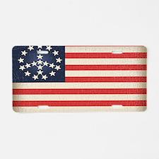 Peace Flag 2 -stkr Aluminum License Plate