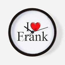 """""""I Love (Heart) Frank"""" Wall Clock"""
