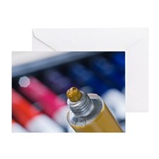 Coloured paint in a tube Greeting Card