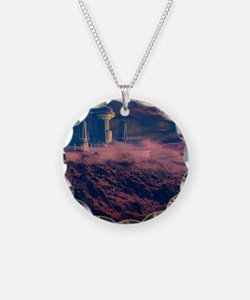Colonised Mars, artwork Necklace Circle Charm