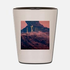 Colonised Mars, artwork Shot Glass