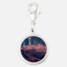 Colonised Mars, artwork Silver Round Charm