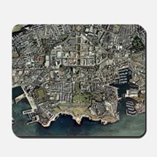Plymouth, UK, aerial image Mousepad