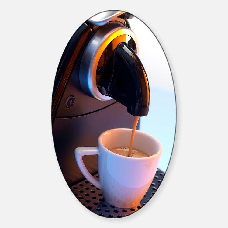 Coffee machine Decal