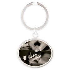 Cocaine use Oval Keychain