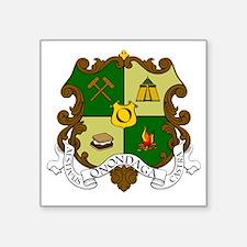 "Camp Onondaga Coat of Arms Square Sticker 3"" x 3"""