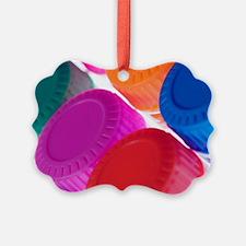 Coloured bottle caps Ornament