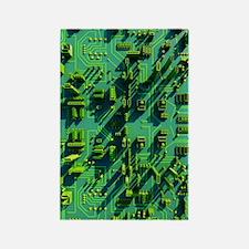 Circuit city, computer artwork Rectangle Magnet