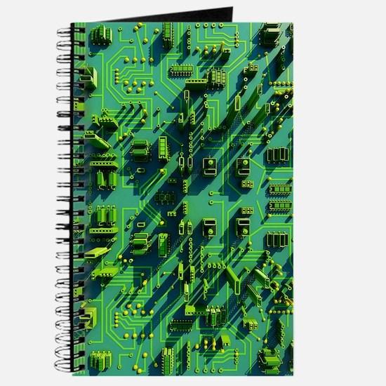 Circuit city, computer artwork Journal