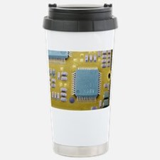 Circuit board microchip, SEM Travel Mug