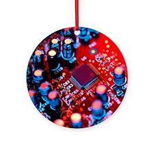 Circuit board Round Ornament