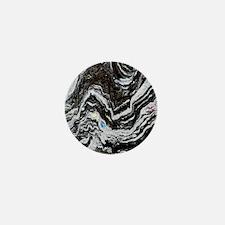 Phyllite, deformed metamorphic rock Mini Button