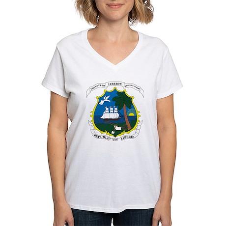 Liberia Coat of Arms Women's V-Neck T-Shirt