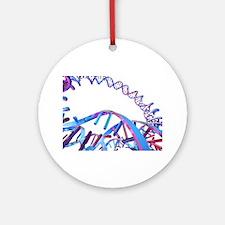 Circular DNA molecule, artwork Round Ornament