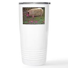 Pig drinking Travel Mug