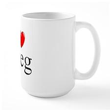"""""""I Love (Heart) Greg"""" Mug"""