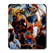 Pietersite semi-precious rock Mousepad