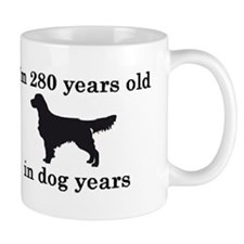 40 birthday dog years golden retriever 2 Small Mugs