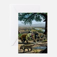 Permian animals, artwork Greeting Card