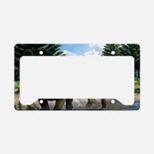 Permian animals, artwork License Plate Holder