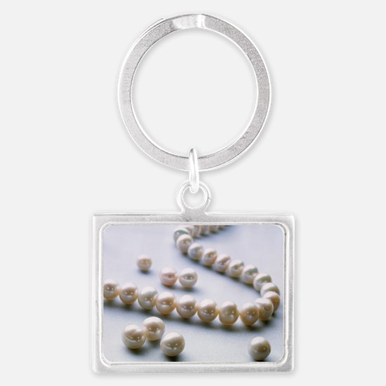 Pearl necklace Landscape Keychain