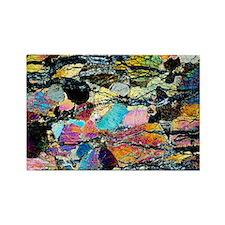 Peridotite rock Rectangle Magnet