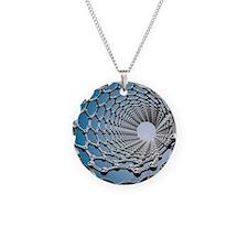 Carbon nanotube, artwork Necklace