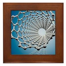 Carbon nanotube, artwork Framed Tile