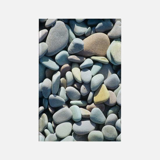 Pebbles on a beach Rectangle Magnet