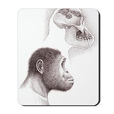 Paranthropus aethiopicus skull and head Mousepad