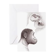 Paranthropus aethiopicus skull and h Greeting Card