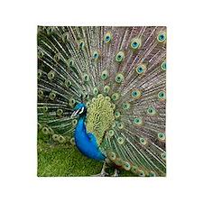 Peacock Throw Blanket