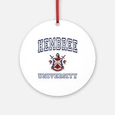 HEMBREE University Ornament (Round)