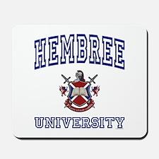 HEMBREE University Mousepad
