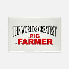 """The World's Greatest Pig Farmer"" Rectangle Magnet"