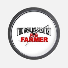 """The World's Greatest Pig Farmer"" Wall Clock"