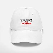 """The World's Greatest Pig Farmer"" Baseball Baseball Cap"