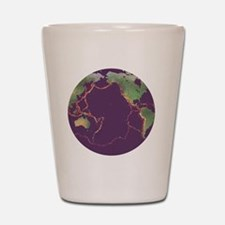 Pacific Ring of Fire Shot Glass