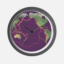 Pacific Ring of Fire Wall Clock