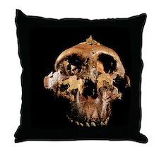 Paranthropus boisei skull Throw Pillow