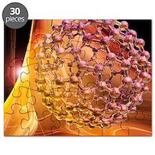 Buckyball molecule, artwork Puzzle