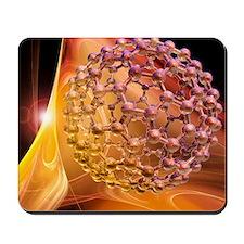 Buckyball molecule, artwork Mousepad