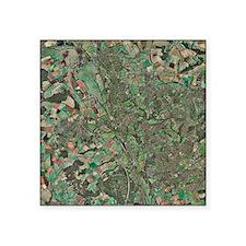 "Oxford, UK, aerial image Square Sticker 3"" x 3"""